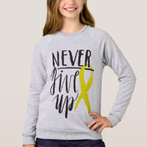NEVER GIVE UP Girls' Sweatshirt