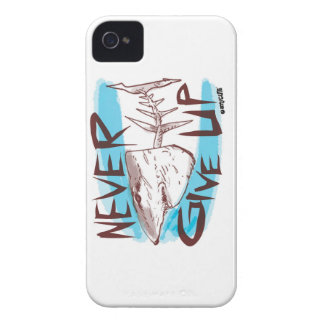 never give up great white shark funny cartoon iPhone 4 Case-Mate case