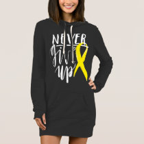 NEVER GIVE UP Hoodie Dress