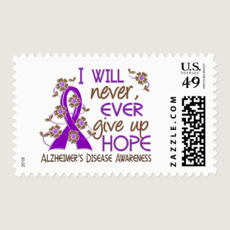 Never Give Up Hope 4 Alzheimer's Disease Postage
