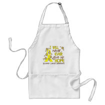 Never Give Up Hope 4 Bladder Cancer Adult Apron