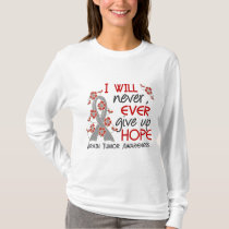 Never Give Up Hope 4 Brain Tumor T-Shirt