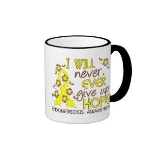 Never Give Up Hope 4 Endometriosis Ringer Mug