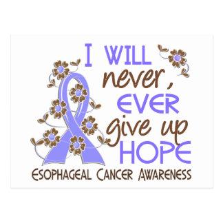 Never Give Up Hope 4 Esophageal Cancer Postcard