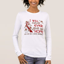 Never Give Up Hope 4 Head and Neck Cancer Long Sleeve T-Shirt
