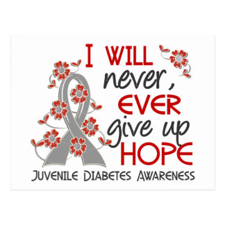 Never Give Up Hope 4 Juvenile Diabetes Postcard