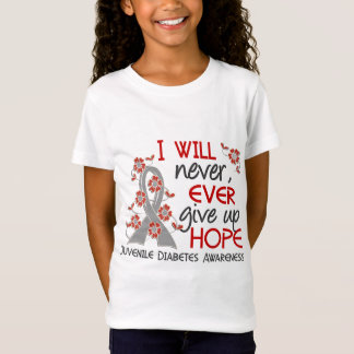 Never Give Up Hope 4 Juvenile Diabetes T-Shirt