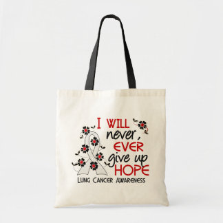 Never Give Up Hope 4 Lung Cancer Tote Bag