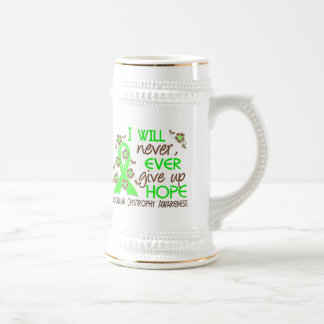 Never Give Up Hope 4 Muscular Dystrophy 18 Oz Beer Stein