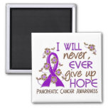 Never Give Up Hope 4 Pancreatic Cancer 2 Inch Square Magnet