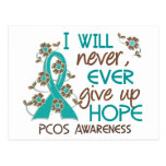 Never Give Up Hope 4 PCOS Postcard