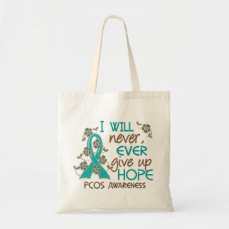 Never Give Up Hope 4 PCOS Tote Bag