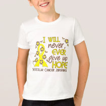 Never Give Up Hope 4 Testicular Cancer T-Shirt