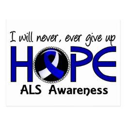 Never Give Up Hope 5 ALS Postcard