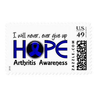 Never Give Up Hope 5 Arthritis Postage Stamps