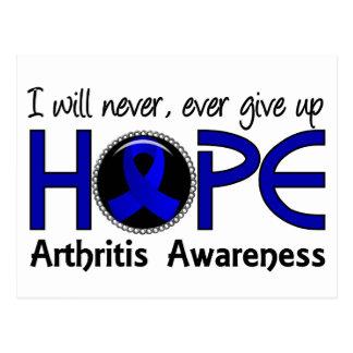 Never Give Up Hope 5 Arthritis Postcard