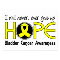Never Give Up Hope 5 Bladder Cancer Postcard