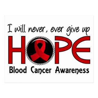 Never Give Up Hope 5 Blood Cancer Postcard