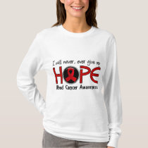 Never Give Up Hope 5 Blood Cancer T-Shirt