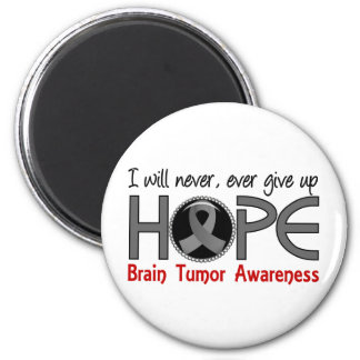 Never Give Up Hope 5 Brain Tumor Refrigerator Magnets