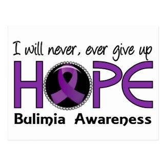 Never Give Up Hope 5 Bulimia Postcard