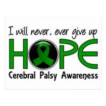 Never Give Up Hope 5 Cerebral Palsy Postcard