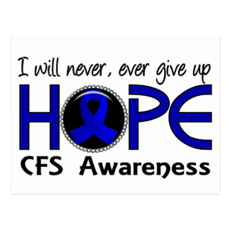 Never Give Up Hope 5 CFS Post Cards