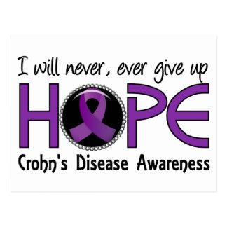 Never Give Up Hope 5 Crohn's Disease Postcard