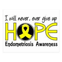 Never Give Up Hope 5 Endometriosis Postcard
