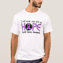 Never Give Up Hope 5 General Cancer T-Shirt