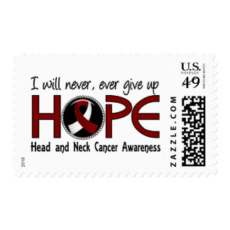 Never Give Up Hope 5 Head and Neck Cancer Stamps