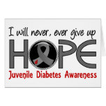 Never Give Up Hope 5 Juvenile Diabetes Greeting Card