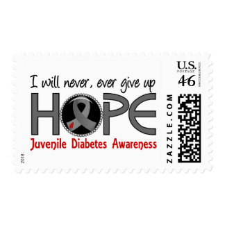 Never Give Up Hope 5 Juvenile Diabetes Postage Stamp