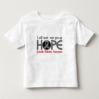 Never Give Up Hope 5 Juvenile Diabetes Tshirts