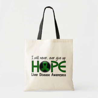 Never Give Up Hope 5 Liver Disease Canvas Bags