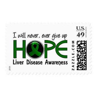 Never Give Up Hope 5 Liver Disease Postage Stamps
