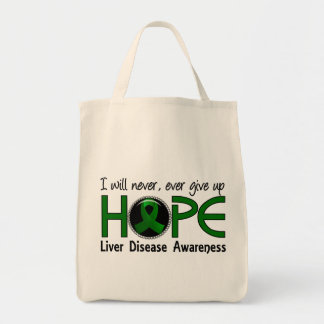 Never Give Up Hope 5 Liver Disease Tote Bags