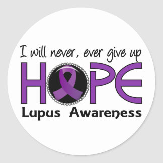 Never Give Up Hope 5 Lupus Classic Round Sticker