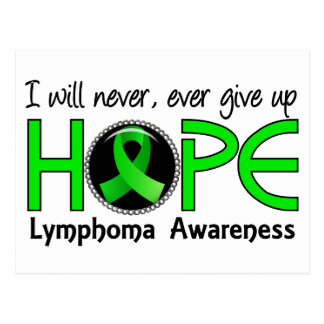 Never Give Up Hope 5 Lymphoma Postcard