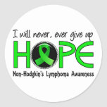 Never Give Up Hope 5 Non-Hodgkin's Lymphoma Classic Round Sticker