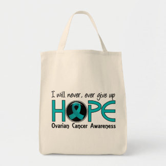 Never Give Up Hope 5 Ovarian Cancer Tote Bag