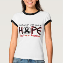 Never Give Up Hope 5 Skin Cancer T-Shirt