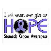 Never Give Up Hope 5 Stomach Cancer Postcard