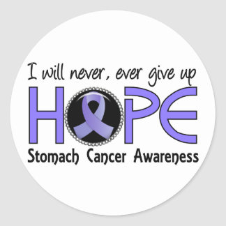Never Give Up Hope 5 Stomach Cancer Round Stickers