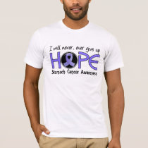 Never Give Up Hope 5 Stomach Cancer T-Shirt