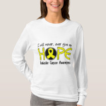 Never Give Up Hope 5 Testicular Cancer T-Shirt
