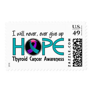 Never Give Up Hope 5 Thyroid Cancer Stamps