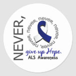 Never Give Up Hope ALS Round Sticker