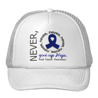 Never Give Up Hope Anal / Rectal Cancer Mesh Hats