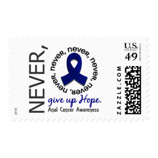 Never Give Up Hope Anal / Rectal Cancer Stamps